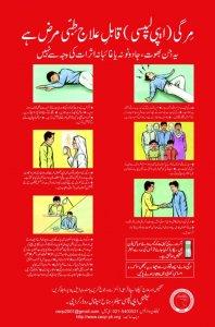 Epilepsy Awareness Poster-Urdu